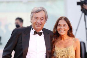 Festival di Venezia 2021-Virologo Roberto Burioni e la moglie Annalisa Rossi