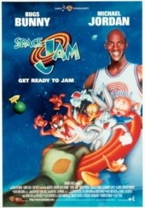 Space Jam-Protagonisti Bugs Bunny e Michael Jordan